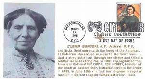 Clara Barton Red Cross Clara Barton U S Nurse Masonic First Day Cover