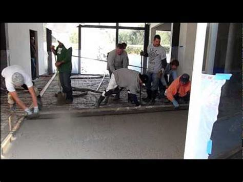 Pouring Indoor Concrete Floors   Remodel   YouTube