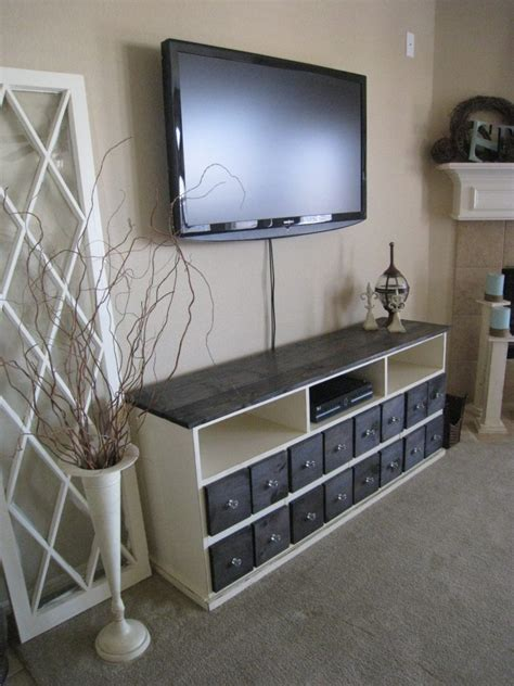 pottery barn inspired media console shanty  chic