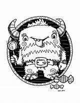 Yeti Wip Tooth Sweet Coloring Svslearn sketch template