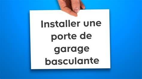 porte de garage basculante castorama installer une porte de garage basculante castorama