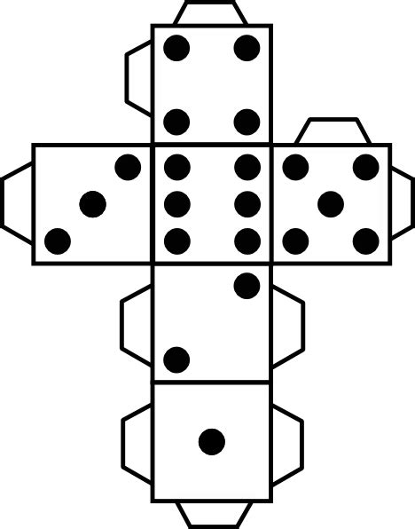 Dice Template Printable Die Dice Clip At Clker Vector Clip