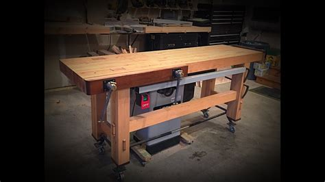 inexpensive woodworking workbench  mobile base