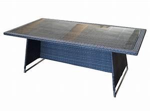 Polyrattan Tisch Grau : xl rattantisch geflechttisch la palma 100x200cm gestell alu polyrattan glas ebay ~ Indierocktalk.com Haus und Dekorationen