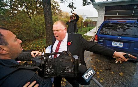 toronto mayor ford yells  reporters  photographers