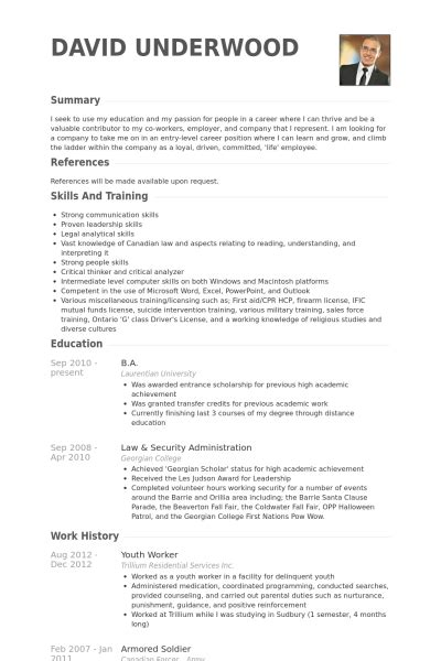resume for youth worker vision specialist baseball resume exles resume good resume