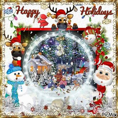 Holidays Happy Snowy Holiday Gifs Animated Wonderful