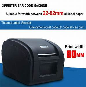 usb xprinter xp 360b With apparel label printer