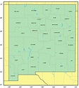 Counties Map of New Mexico - Mapsof.Net
