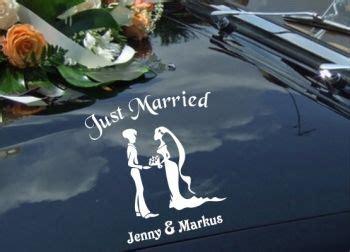 autoaufkleber hochzeit  married romantik design