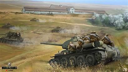 Tanks Odessa Battle 34 Army Nikita Soviet