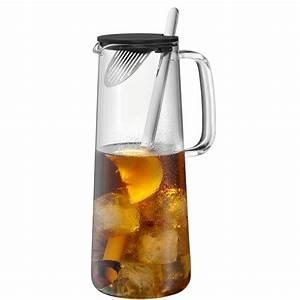 Glaskaraffe 2 Liter : wmf karaffe mit sieb und l ffel iceteatime 1 2l k che haushalt ~ Whattoseeinmadrid.com Haus und Dekorationen