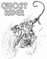 Rider Ghost Coloring Pages Adults Ghostrider Print Spider Cool Cartoon Man Only sketch template