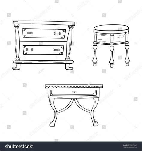 bureau dwg furniture set antique bureau tables isolated on a white