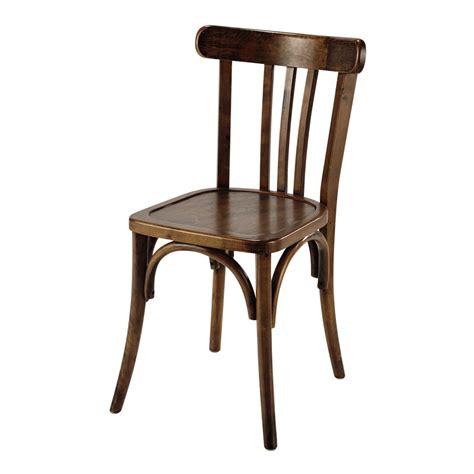 chaise de bistrot en bois marron troquet maisons du monde