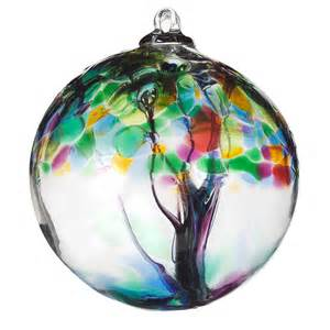 recycled glass tree globes relationships motherhood family friendship sister stephen