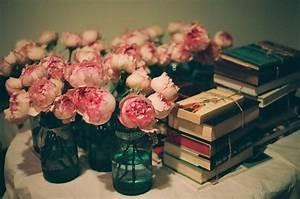 books, flowers, roses, vase, vintage - image #162865 on ...