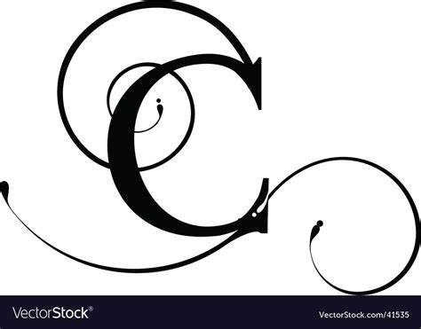 Letter C Royalty Free Vector Image