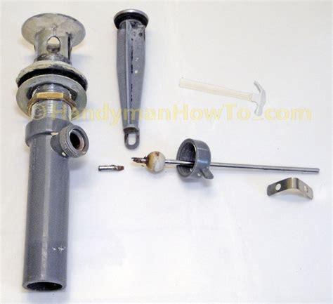 remove sink drain plug chrome bathtub basin drain