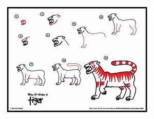 How To Draw A Tiger - Art For Kids Hub - | Kid, How to ...