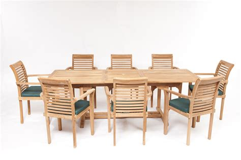 geneva teak garden furniture set humber imports uk