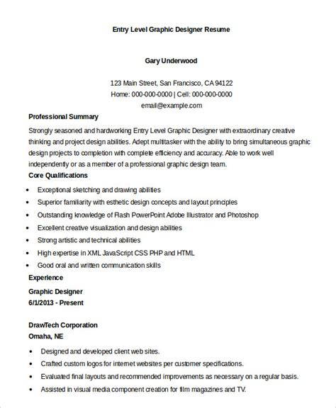 entry level graphic design graphic designer resume 7 free sle exle format