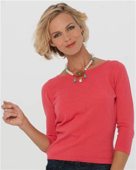 Boat Neck Cashmere Sweater by Boat Neck Cashmere Sweater A Summer Cashmere Top