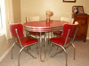 retro kitchen table  chair setdinette dining