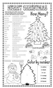 english worksheets merry christmas 3 different activities