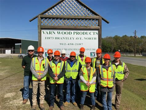 coastal pines forestry program visits local  mill