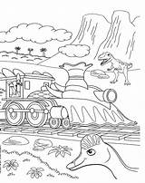 Train Dinosaur Coloring Pages Dino sketch template