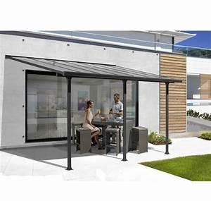 Pergola Murale Alu : pergola en aluminium et polycarbonate 5x3 m abrirama ~ Edinachiropracticcenter.com Idées de Décoration