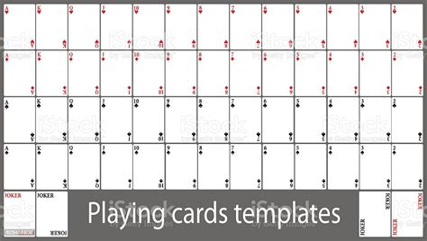 playing cards template set stock vector art  istock