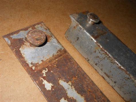 1 Pair Antique Vintage Cast Iron Steel Bed Rails
