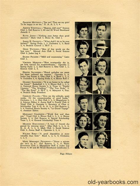 find yearbook photos for free athens oh high school 1933 yearbook page 09