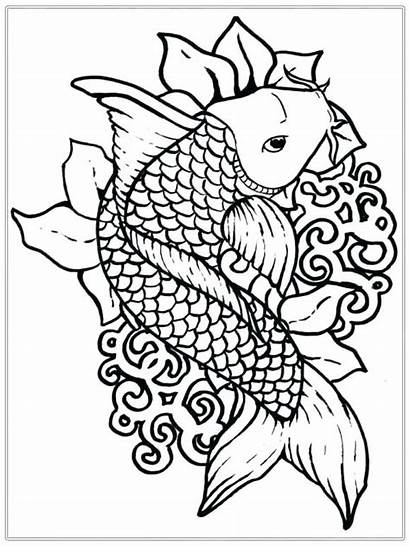 Coloring Pages Realistic Ocean Fish Printable Getcolorings