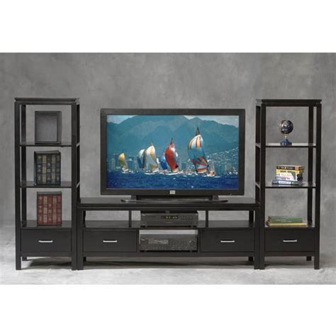 entertainment centers linon sutton   wood