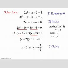 Solving Quadratic Equations  More Examples  Ppt Video Online Download