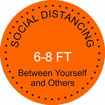 Social Floor Decal Round Distancing Distance Customsigns