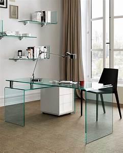 Schreibtisch Aus Glas : der schreibtisch aus gebogenem glas rialto isola fiam italia ~ Markanthonyermac.com Haus und Dekorationen