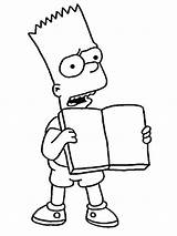 Simpson Bart Simpsons sketch template