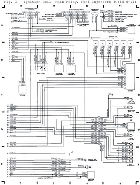 1995 Subaru Legacy Wiring Harnes Diagram by 1992 Subaru Ignition Coil Relay Fuel Injectors System
