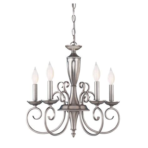 Pewter Chandelier by Illumine 5 Light Pewter Chandelier Cli Sh202851595 The
