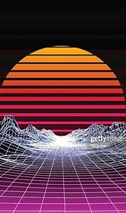 Abstract 80s Style Retro Background High-Res Vector ...