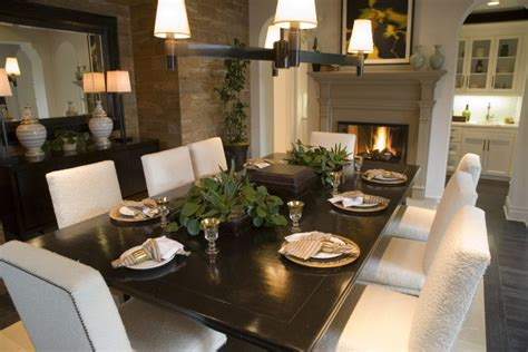 dining room designs  fireplaces