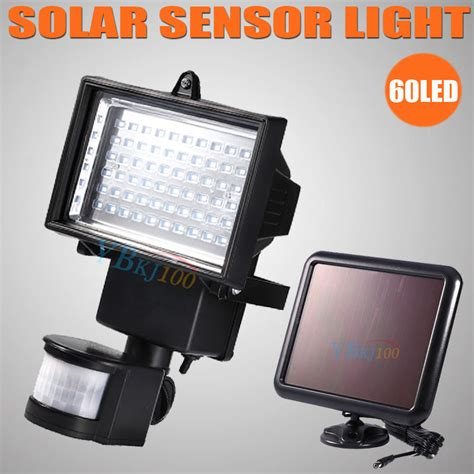 led motion sensor solar powered outdoor garden