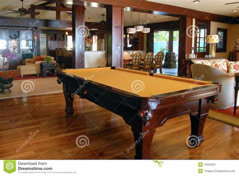 pool table in living room pool table in the living room royalty free stock