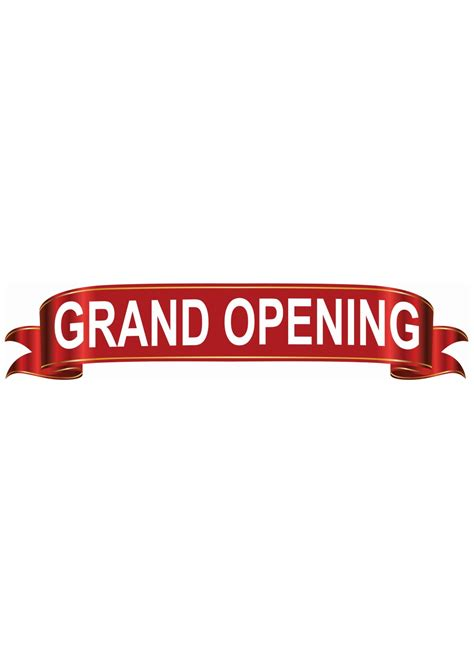 Grand Opening Ceremony Banner - Ribbon Cutting Scissors