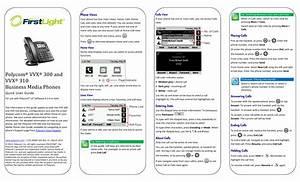Polycom Vvx 300 And 310 Quick User Guide