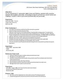 Digital Press Operator Resume by Digital Press Operator Sle Resume Biomechanical Engineering
